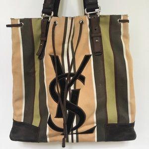 YSL canvas shopping bag.